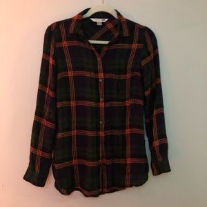 Gently used S Old Navy lightweight flannel shirt